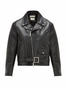 Bottega Veneta - Leather Biker Jacket - Womens - Black
