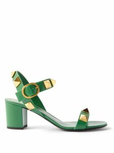 Gucci - Panama Horsebit Print Cotton Skirt - Womens - Orange Multi