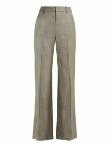 Nili Lotan - Sullivan Straight Leg Wool Trousers - Womens - Grey