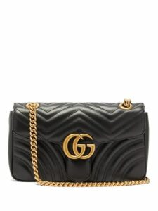 Gucci - Gg Marmont Small Quilted-leather Cross-body Bag - Womens - Black