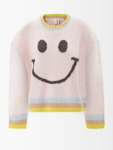 Zimmermann - Allia Floral Cross Stitch Linen Blend Midi Dress - Womens - Black
