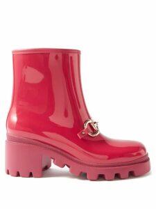 Marni - Crackle Coated Midi Skirt - Womens - Red