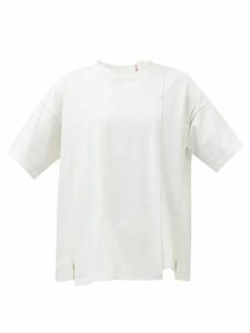 Albus Lumen - Safi Cotton Blend Single Breasted Blazer - Womens - Nude