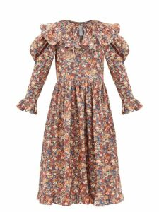 Staud - Vincent Cotton Poplin Midi Shirtdress - Womens - Light Pink