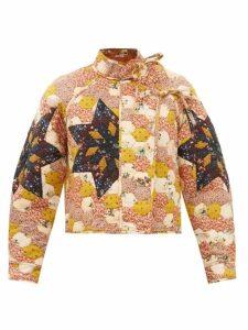 Staud - Dill Balloon Sleeved Cotton Blend Top - Womens - Light Yellow