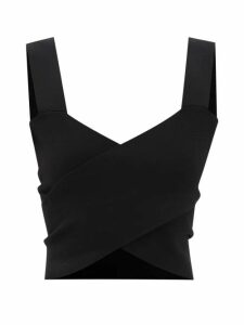 Diane Von Furstenberg - Clarissa Lemon Print Wrap Cotton Blend Skirt - Womens - Yellow Multi