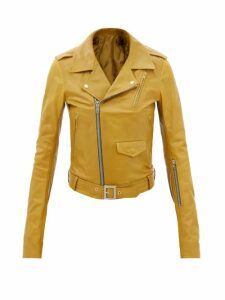 Joseph - Den Leather Kick Flare Trousers - Womens - Black