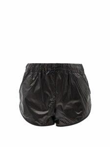 The Attico - Long Train Sequinned Mini Dress - Womens - Black