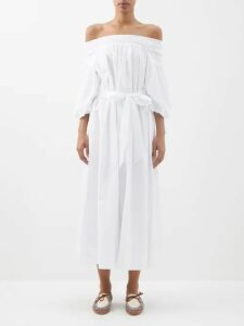 Weekend Max Mara - Samanta Shirtdress - Womens - Dark Green Multi