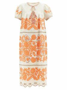 Balenciaga - Floral Jacquard Shirt - Womens - Blue