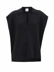 Altuzarra - Gormann Bird Print Silk Chiffon Midi Dress - Womens - Black Print