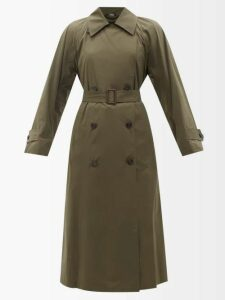 Dolce & Gabbana - Lily Print Stretch Crepe Top - Womens - Pink Multi