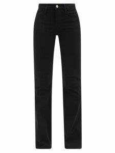 Ganni - Gingham Check Silk Mini Dress - Womens - Black White