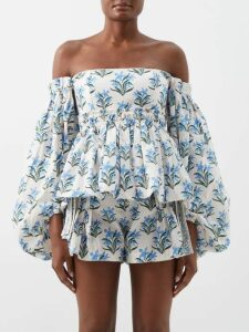 Etro - Paisley Print Embellished Silk Georgette Gown - Womens - Pink Print