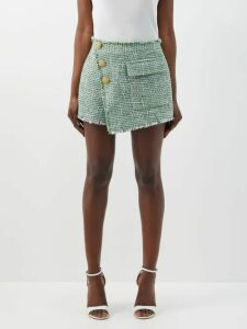 Bottega Veneta - Intrecciato Tab Cashmere Blend Sweater - Womens - Black