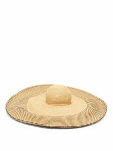 Lola Hats - Spinner Bis Raffia Hat - Womens - Black