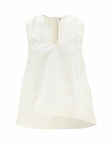 Batsheva - Corset Rose Print Cotton Dress - Womens - Pink Multi