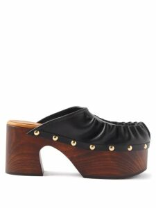 The Attico - Metallic Plissé Crepe Bustier Top - Womens - Blue