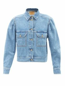 No. 21 - Crystal Embellished Wool Blend Cardigan - Womens - Green
