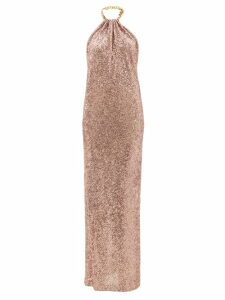 Diane Von Furstenberg - Serena Python Print Silk Wrap Dress - Womens - Orange