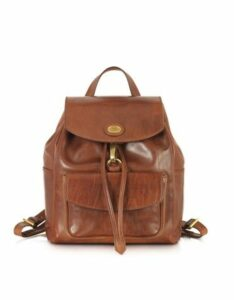 The Bridge Designer Handbags, Story Donna Marrone Leather Backpack