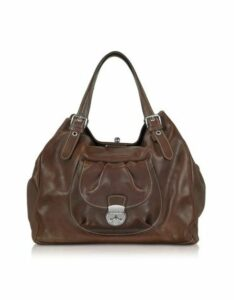 Robe di Firenze Designer Handbags, Brown Italian Leather Tote