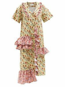 The Attico - Single Breasted Wool Blend Twill Blazer - Womens - Fuchsia