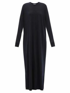 Mm6 Maison Margiela - V Neck Raw Denim Dress - Womens - Denim