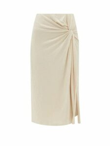 Loup Charmant - Alghero Crossed Back Cotton Midi Dress - Womens - Green
