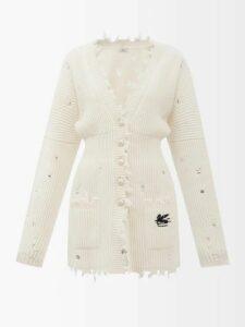 Self-portrait - Sequin Embellished Floral Midi Dress - Womens - Cream Navy