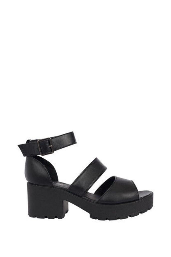 All Yours Black Platform Sandals