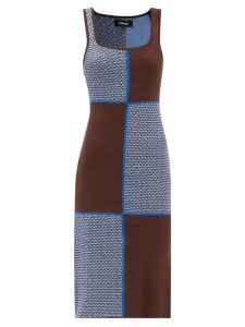 Altuzarra - Chaz Prince Of Wales Checked Shorts - Womens - Grey Multi
