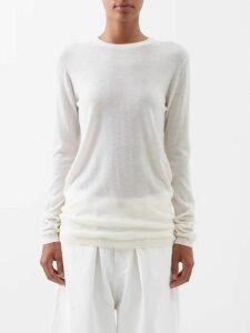 Gioia Bini - Camilla Ruffle Trimmed Linen Dress - Womens - Yellow