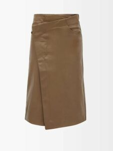 Adriana Degreas - Bacio Kisses Print Voile Mini Dress - Womens - Red White