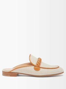 Saloni - Rose Ruffled Polka Dot Silk Blend Dress - Womens - Pink