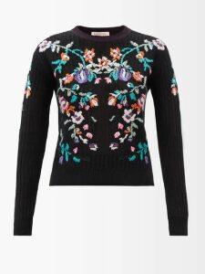 Adriana Degreas - Bacio Ruffled Linen Blend Midi Skirt - Womens - Red