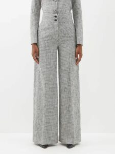 Christian Louboutin - Jamais 100 Studded Mirrored Leather Sandals - Womens - Gold