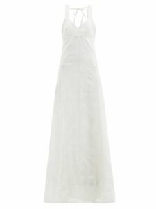 Altuzarra - Chika Metallic Floral Print Silk Blend Shirt - Womens - Gold Multi