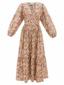 On The Island By Marios Schwab - Molakai Halterneck Linen Maxi Dress - Womens - Yellow