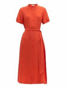 Diane Von Furstenberg - Mia Belted Silk Crepe Midi Dress - Womens - Orange