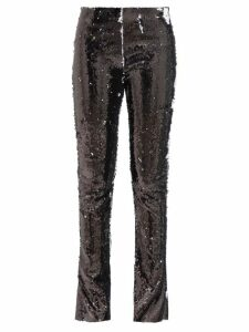 Saloni - Isabel Lemon Print Silk Georgette Dress - Womens - Pink Multi
