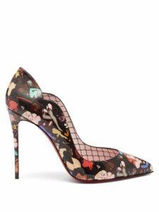 La Doublej - Hendrix Slinky Print Cotton Blend Trousers - Womens - Green