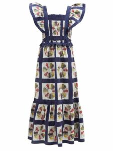 Sea - Tula Paperbag Waist Cotton Blend Trousers - Womens - Khaki