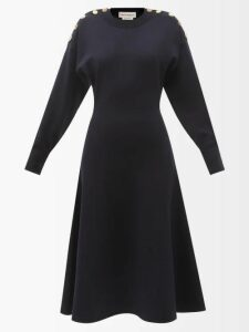 Ganni - High Texas Leather Cowboy Boots - Womens - Black