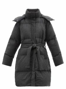 The Vampire's Wife - Cate Ruffle Trimmed Cotton Corduroy Midi Dress - Womens - Burgundy