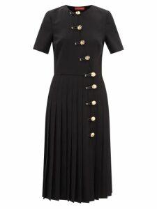 Erdem - Lydell Floral Damask Maxi Skirt - Womens - Pink