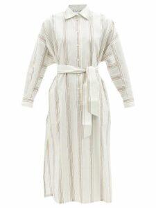 Pippa Holt - Embroidered Midi Cotton Kaftan - Womens - White Print