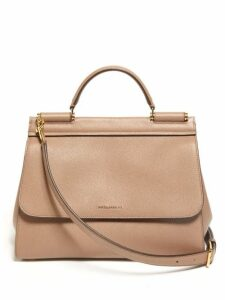 Dolce & Gabbana - Sicily Small Leather Bag - Womens - Dusty Pink