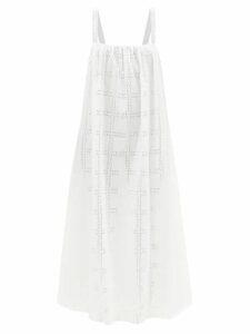 Self-portrait - Leopard Print Asymmetric Satin Top - Womens - Black White