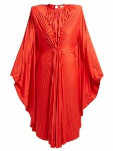 Vetements - Sunburst Pleated Jersey Midi Dress - Womens - Red